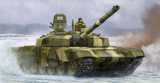 TR 09507 RUSSIAN T-72B2 MBT ROGATKA TRUMPETER
