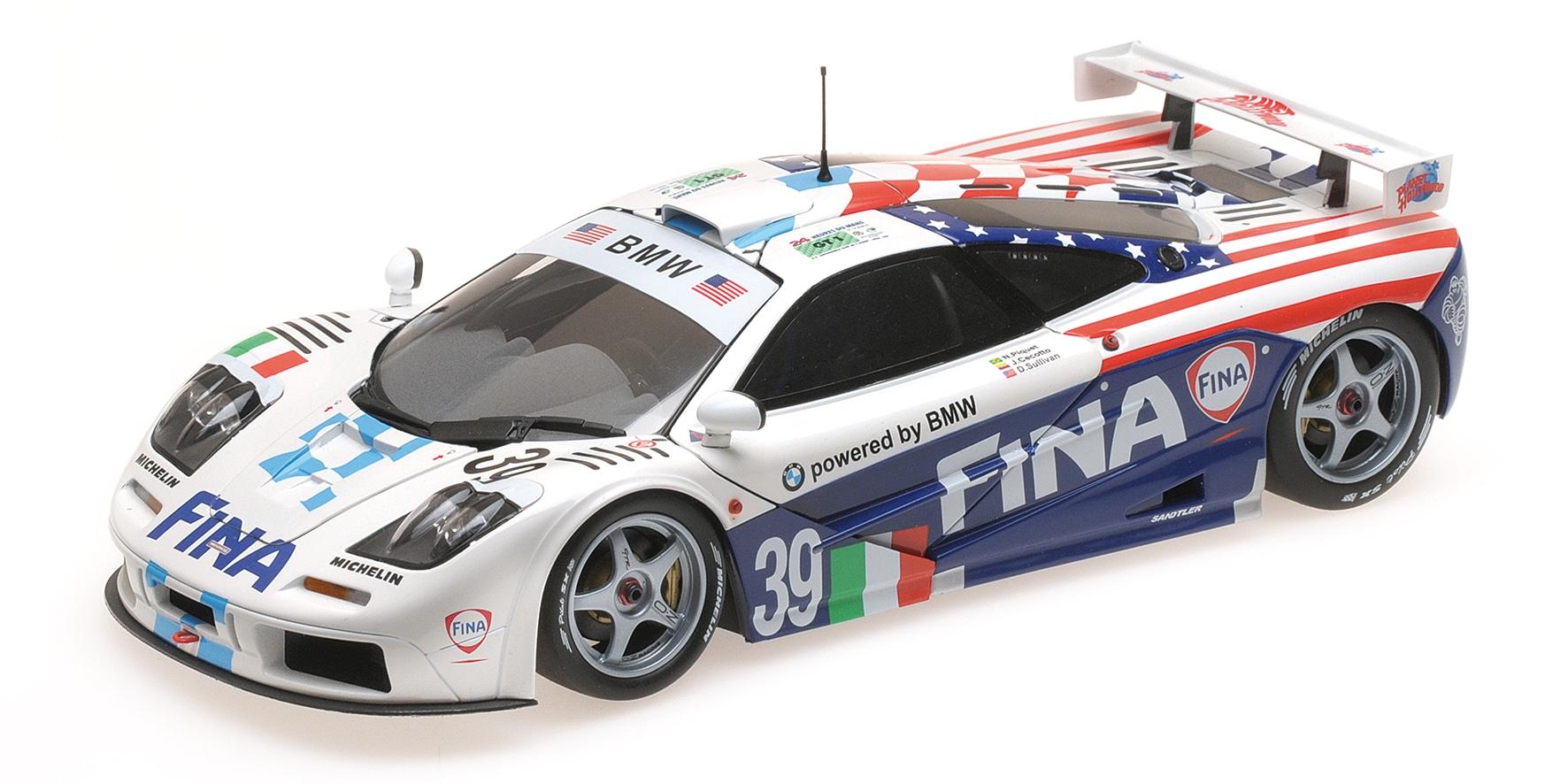 McLAREN F1 GTR FINA TEAM BIGAZZI CECOTTO PIQUET 24H LE MANS 1996 Minichamps Mini