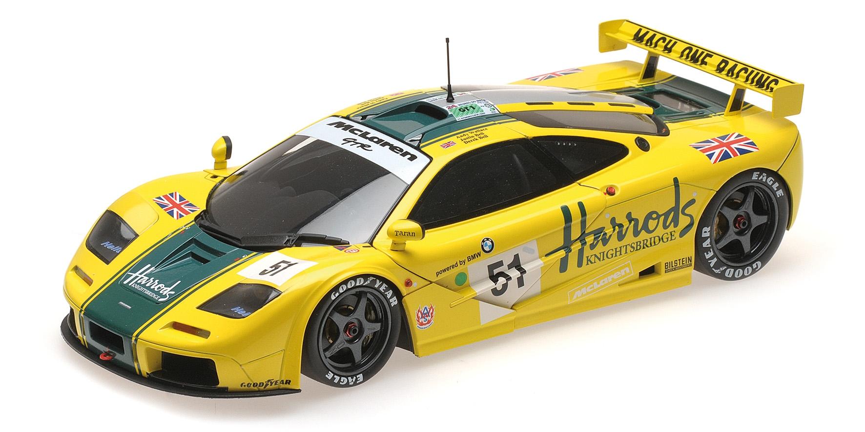 McLAREN F1 GTR HARRODS MACH ONE RACING WALLACE BELL 24H LE MANS 1995 Minichamps