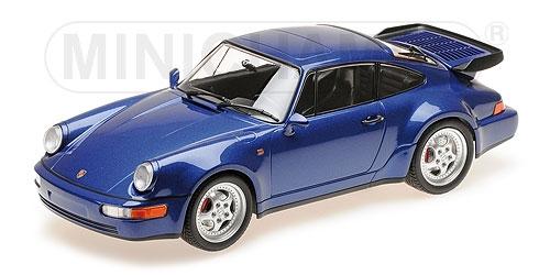 PORSCHE PORSCHE PORSCHE 911 TURBO 964 Azul METALLIC 2018 Minichamps 155069101 879fdb