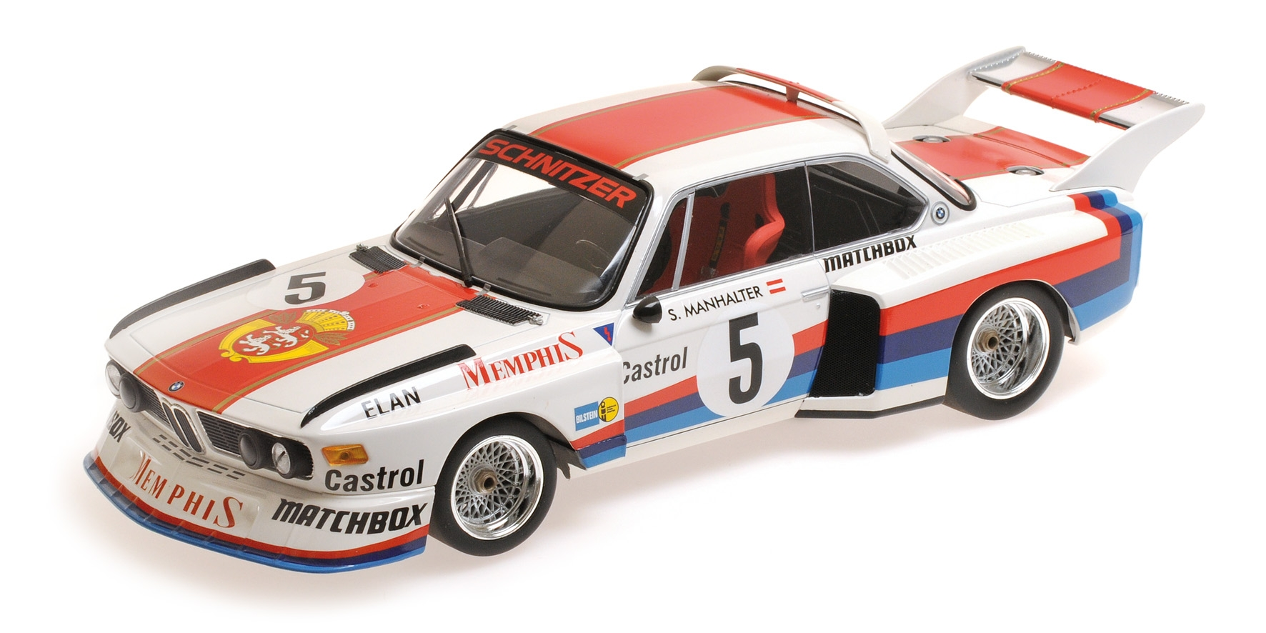 BMW 3.5 CSL SEPP MANHALTER WIN. HAVIROV INTERNATIONAL 1977 Minichamps 155772605