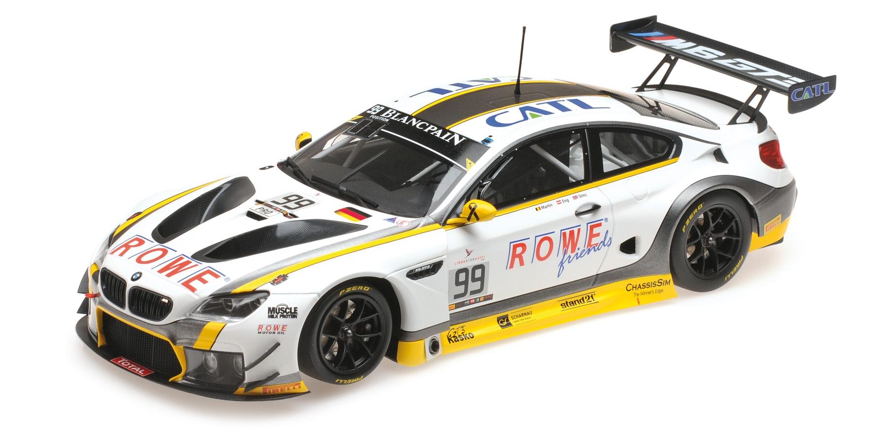 BMW M6 GT3 Rowe Racing Martin Eng Sims Winner 24H Spa 2016 Minichamps 155162699