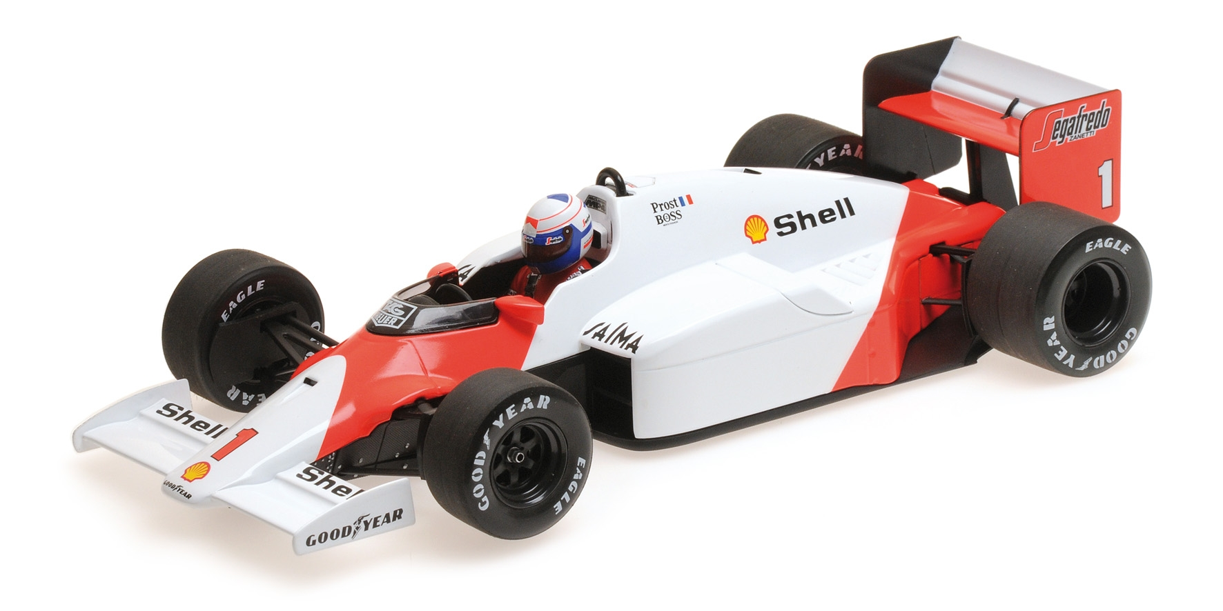 Mclaren Tag MP4 2C Alain Prost World Champion 1986 Minichamps 530861801 Auto