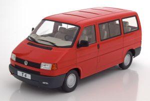 VOLKSWAGEN BUS T4 CARAVELLE 1992 RED KKDC180261