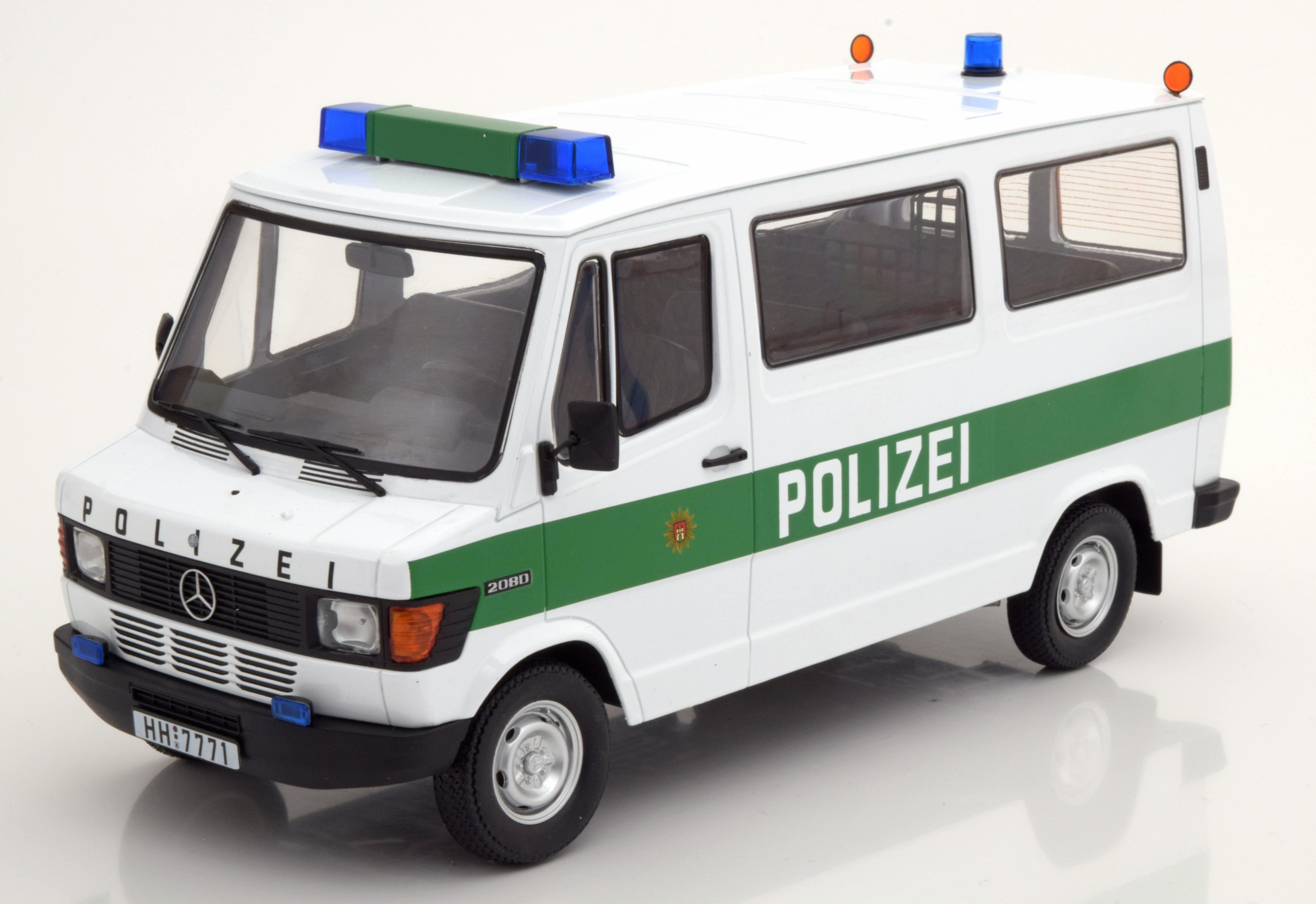 MERCEDES 208D Bus 1988 Polizei Hamburg KK-Scale KKDC 180292 KK-Scale