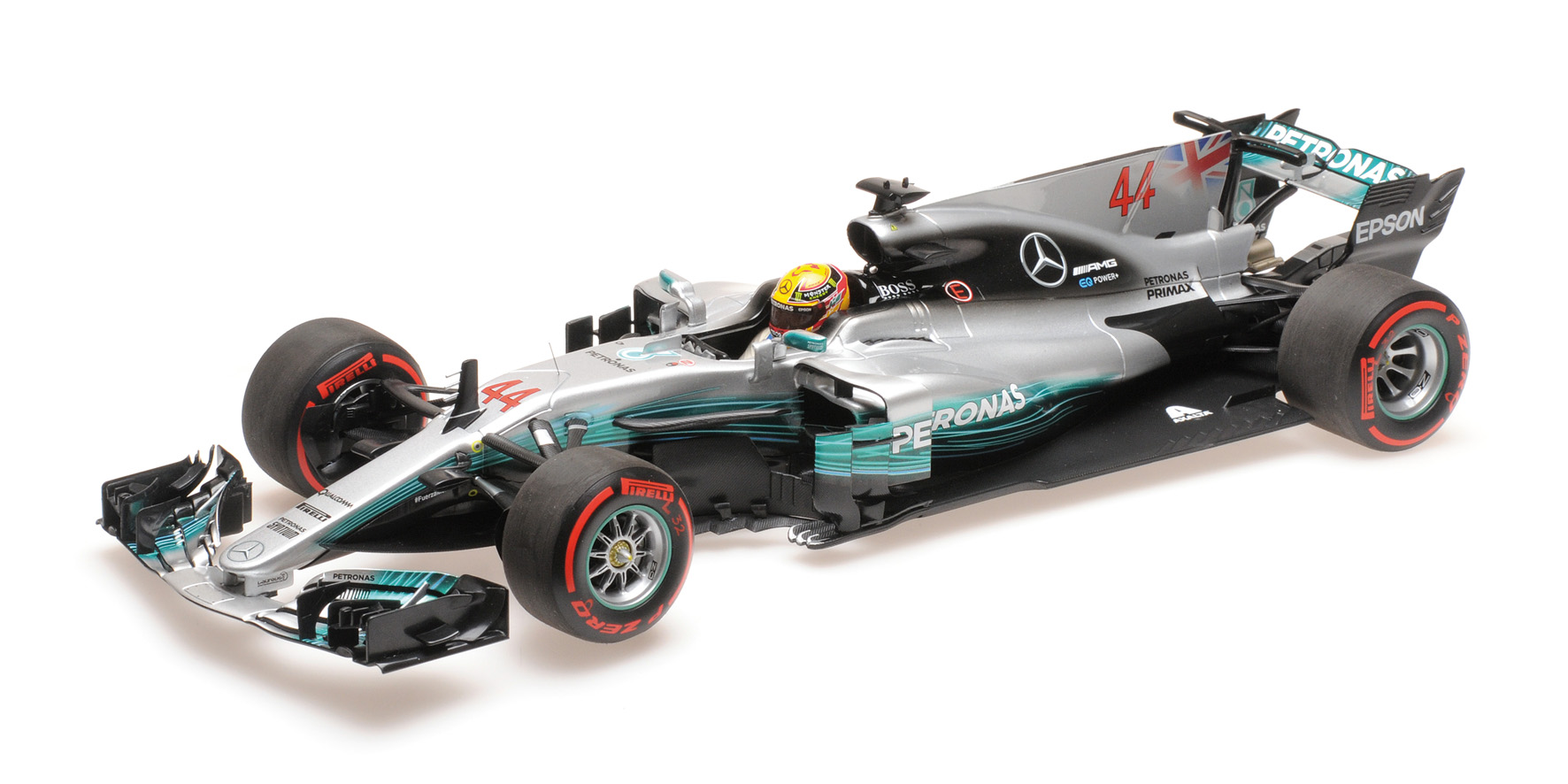 Mercedes AMG W08 Lewis Hamilton Mexican Gp World Champion 2017 Minichamps